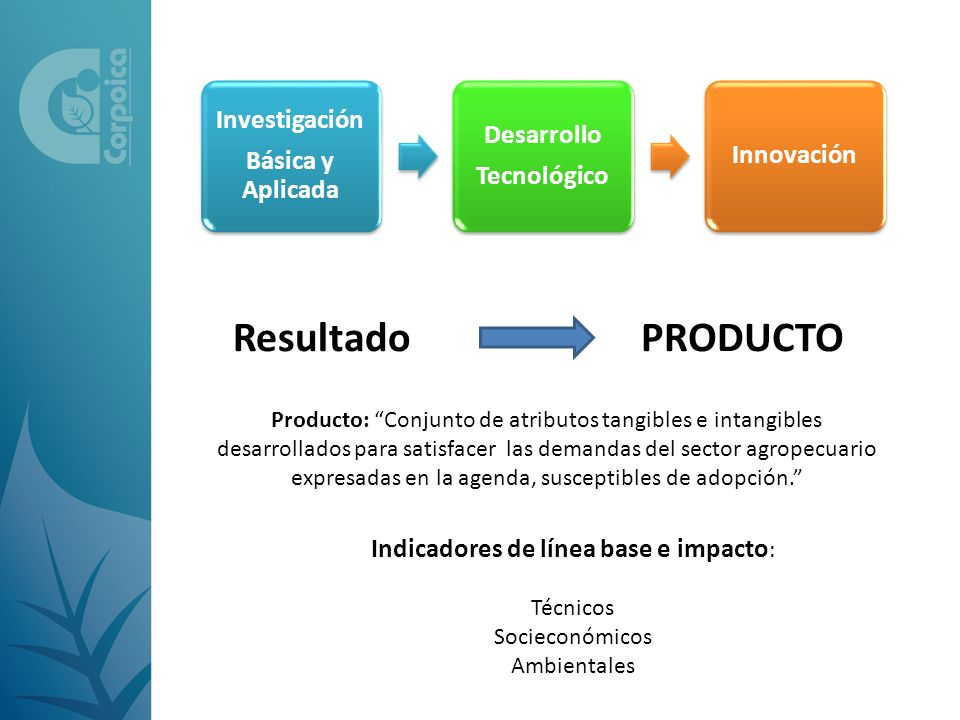 Indicadores de línea base e impacto: