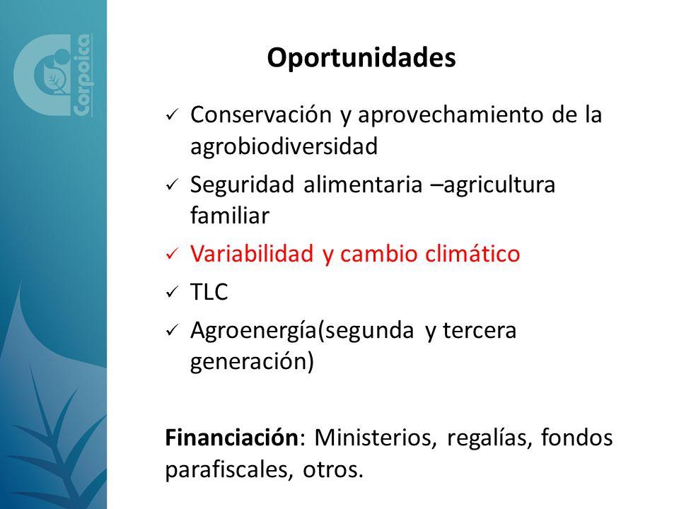 Oportunidades Conservación y aprovechamiento de la agrobiodiversidad
