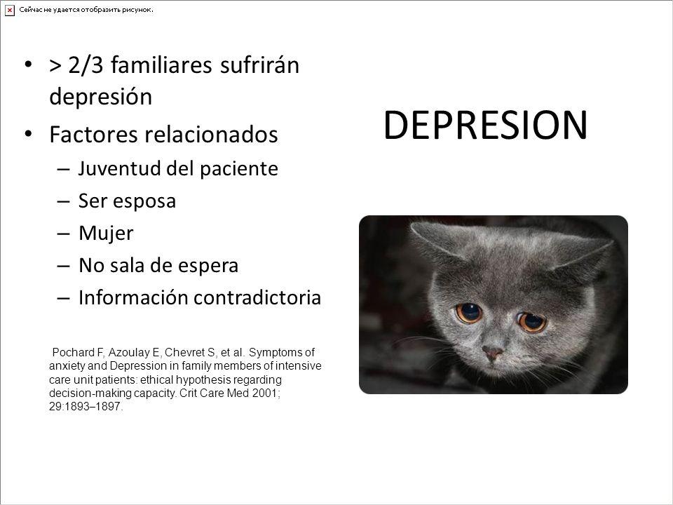 DEPRESION > 2/3 familiares sufrirán depresión Factores relacionados