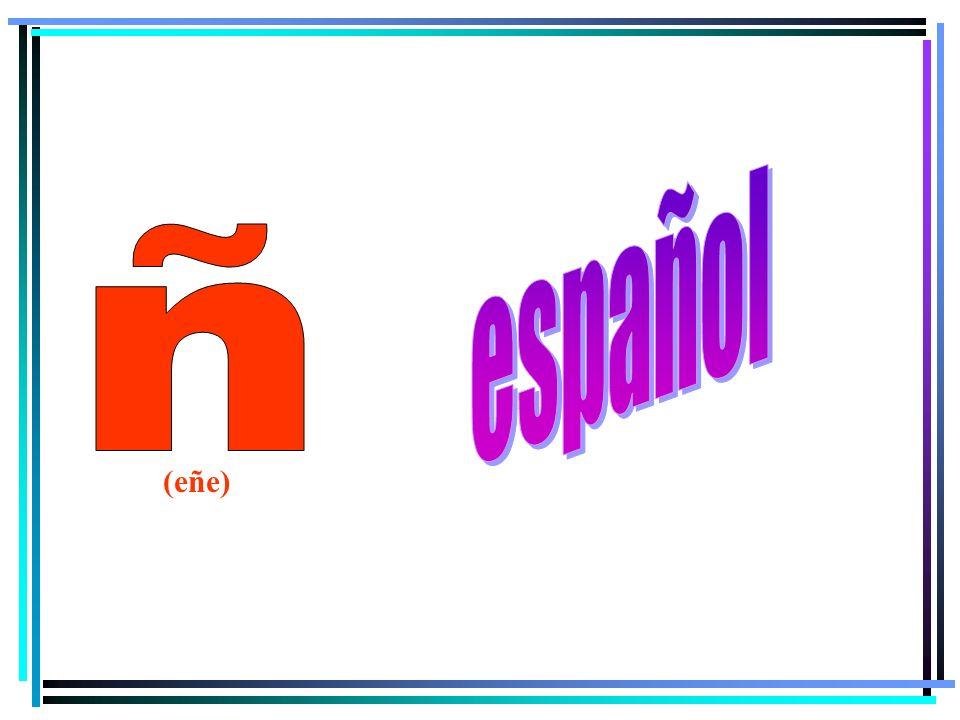 español ñ (eñe)