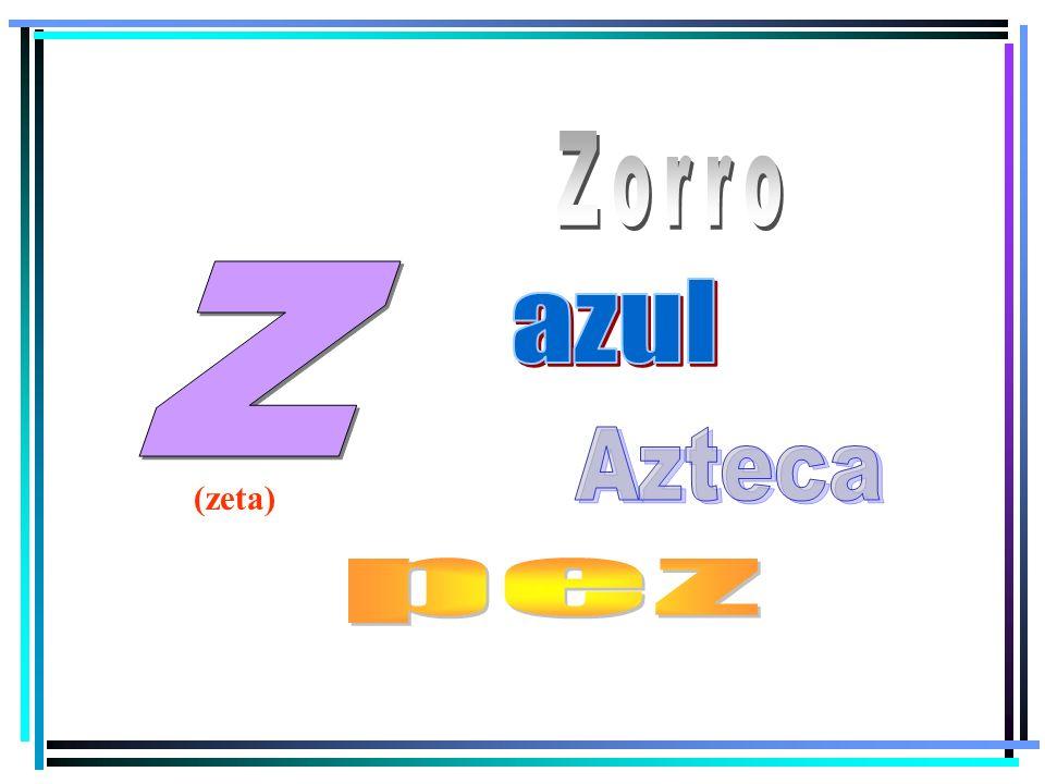 Zorro z azul Azteca (zeta) pez