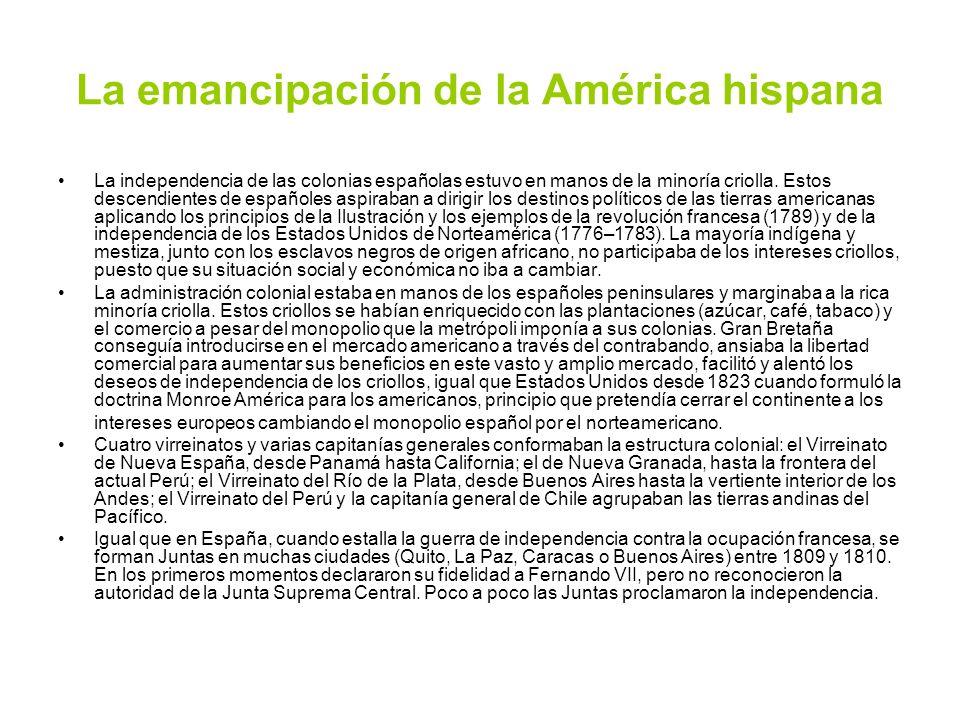 La emancipación de la América hispana