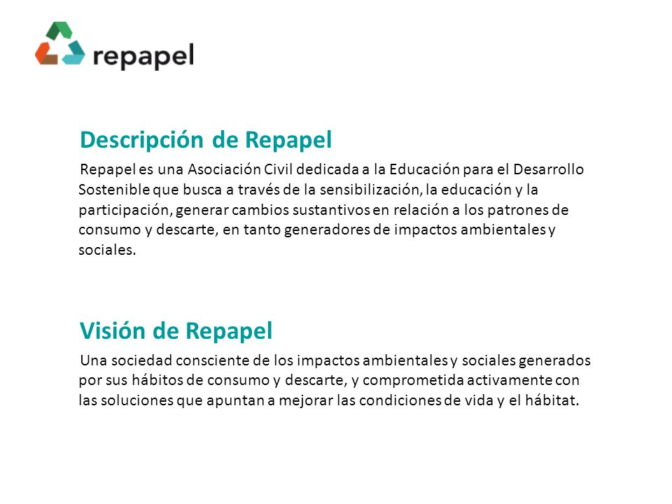 Descripción de Repapel