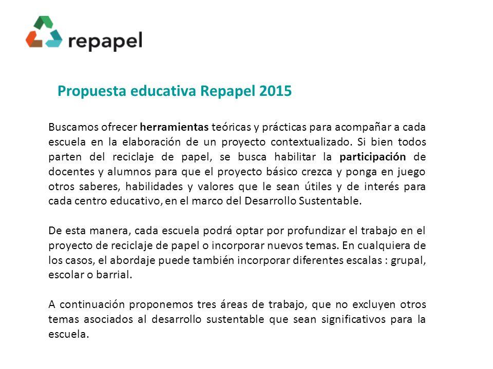 Propuesta educativa Repapel 2015