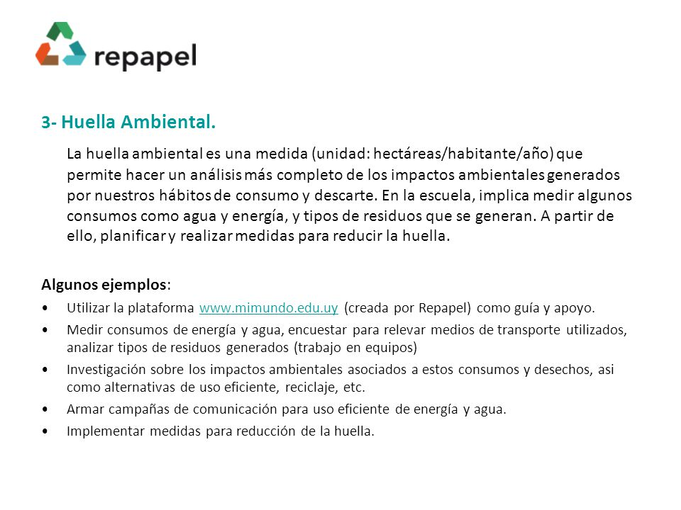 3- Huella Ambiental.
