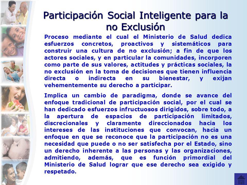 Participación Social Inteligente para la no Exclusión