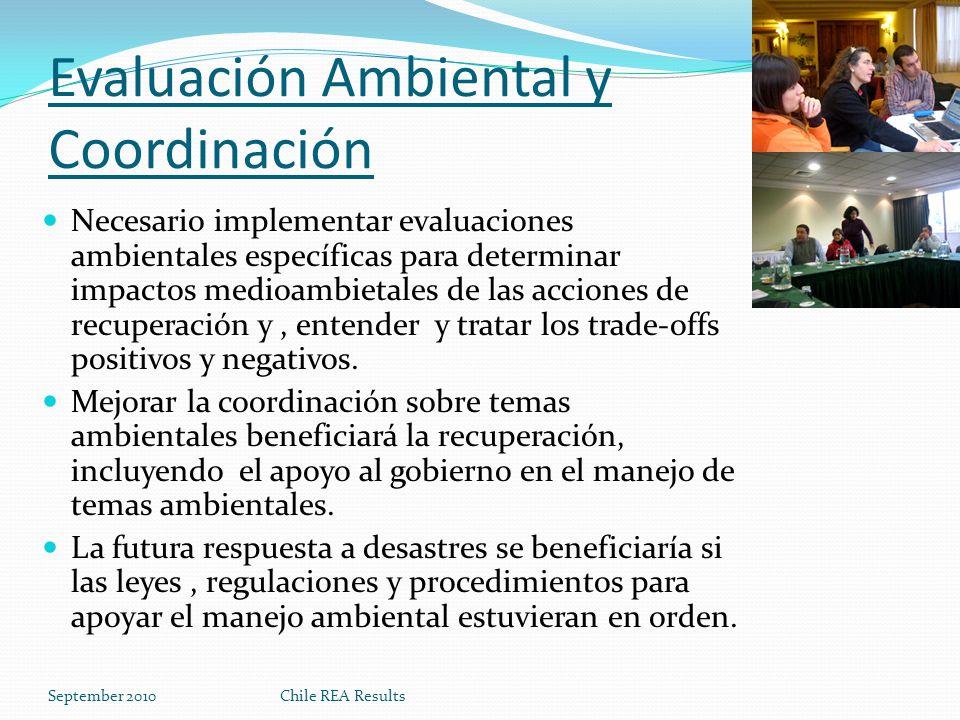Evaluación Ambiental y Coordinación