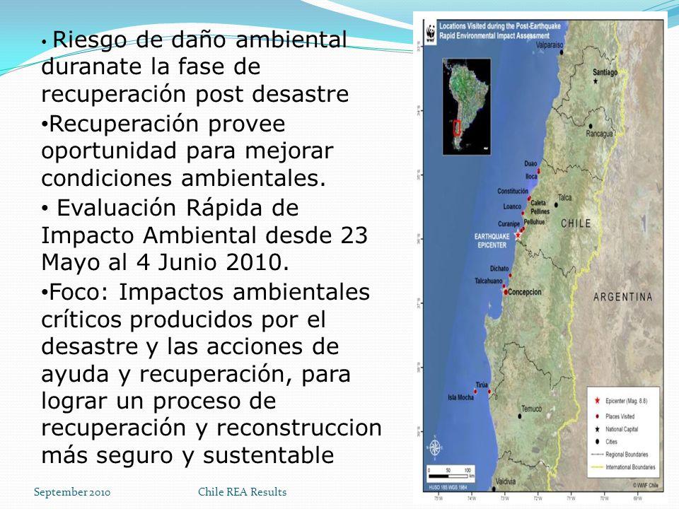 Recuperación provee oportunidad para mejorar condiciones ambientales.