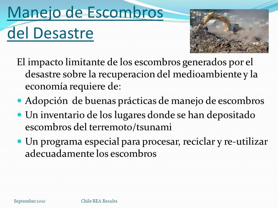 Manejo de Escombros del Desastre