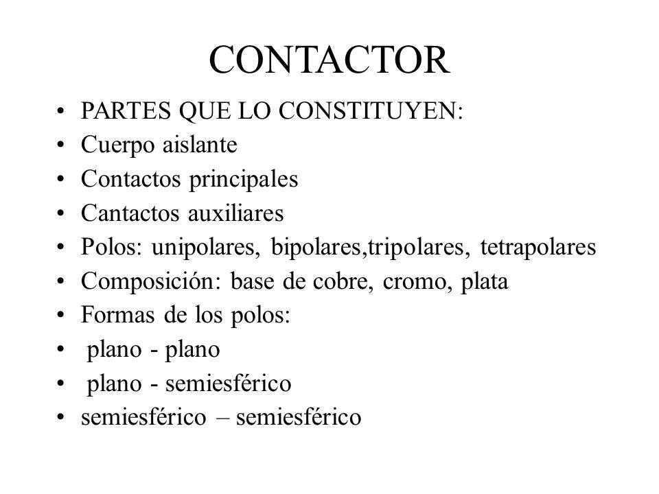CONTACTOR PARTES QUE LO CONSTITUYEN: Cuerpo aislante