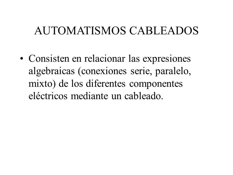 AUTOMATISMOS CABLEADOS