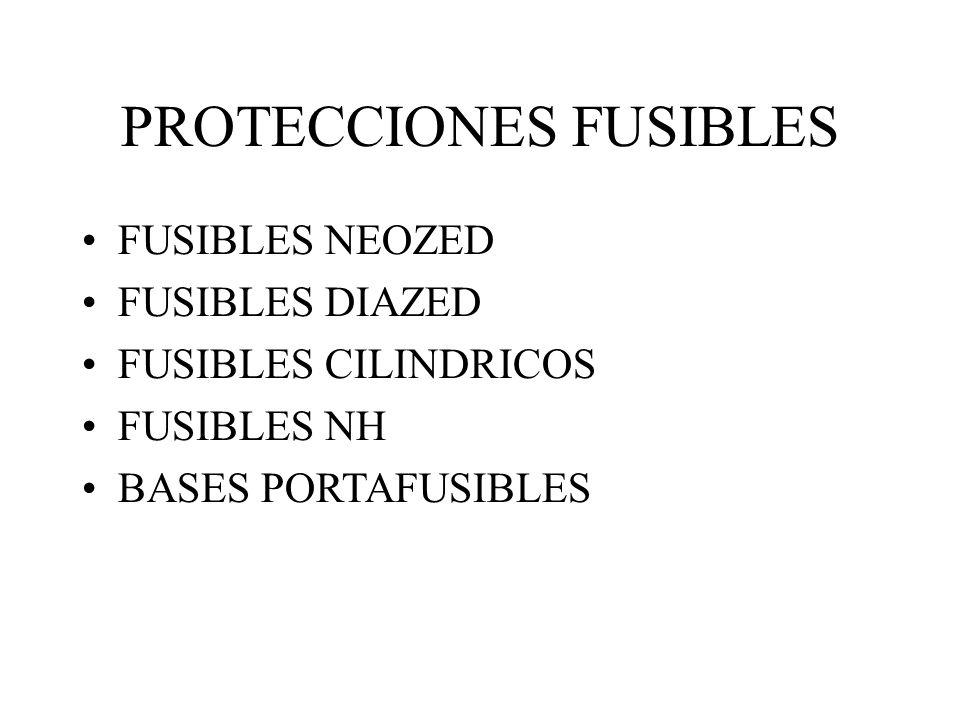 PROTECCIONES FUSIBLES