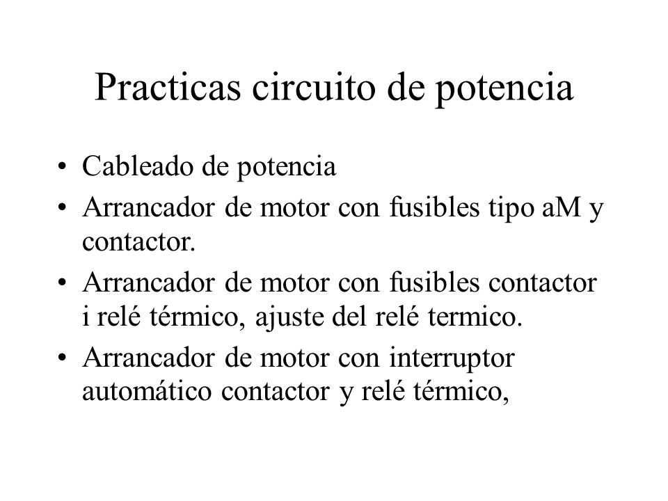 Practicas circuito de potencia