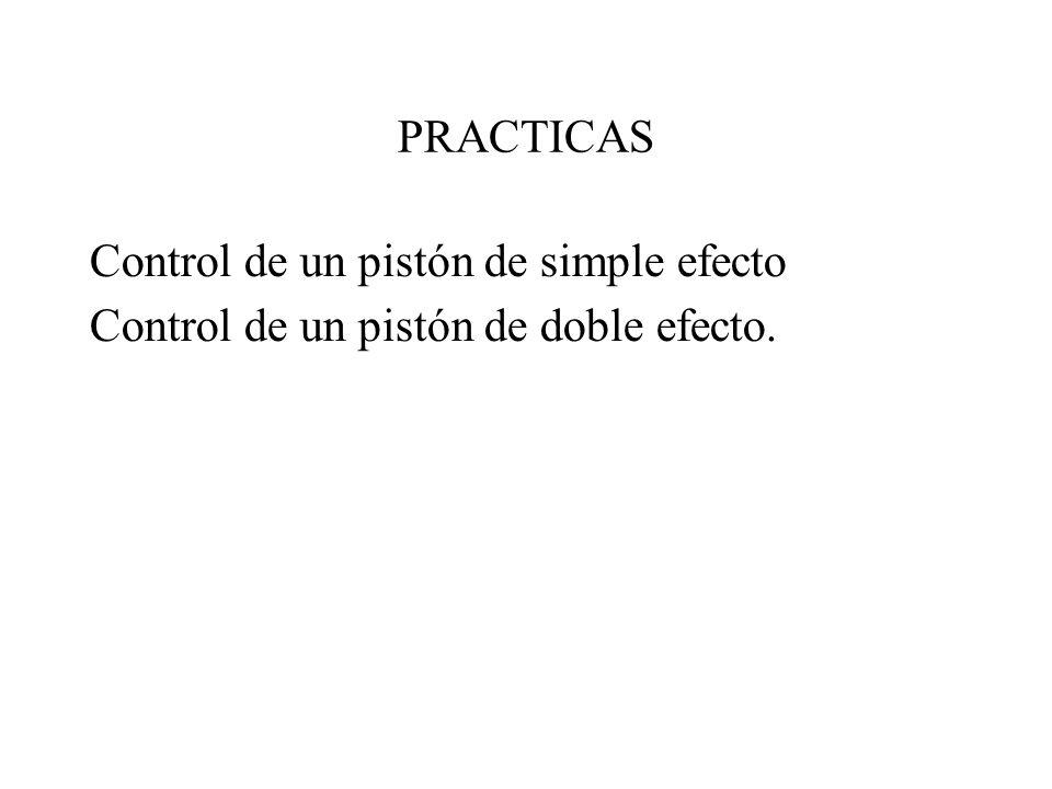 PRACTICAS Control de un pistón de simple efecto Control de un pistón de doble efecto.