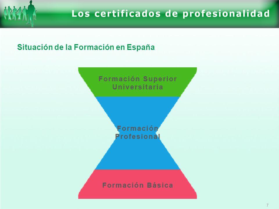 Situación de la Formación en España