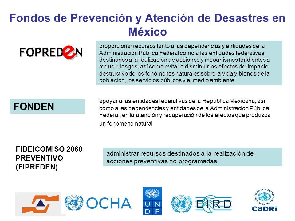 Fondos de Prevención y Atención de Desastres en México