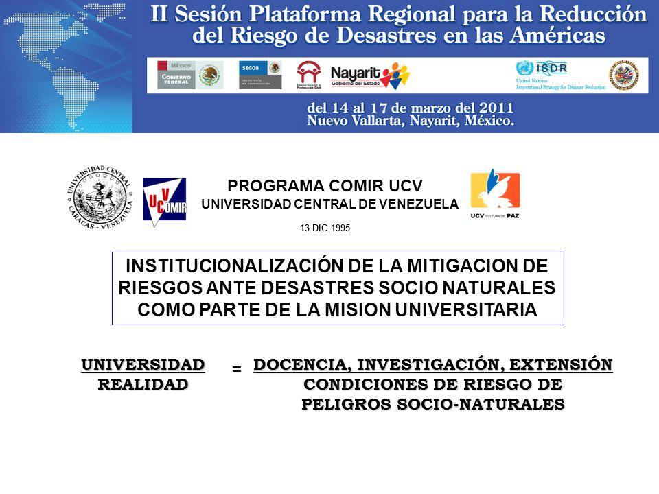 INSTITUCIONALIZACIÓN DE LA MITIGACION DE
