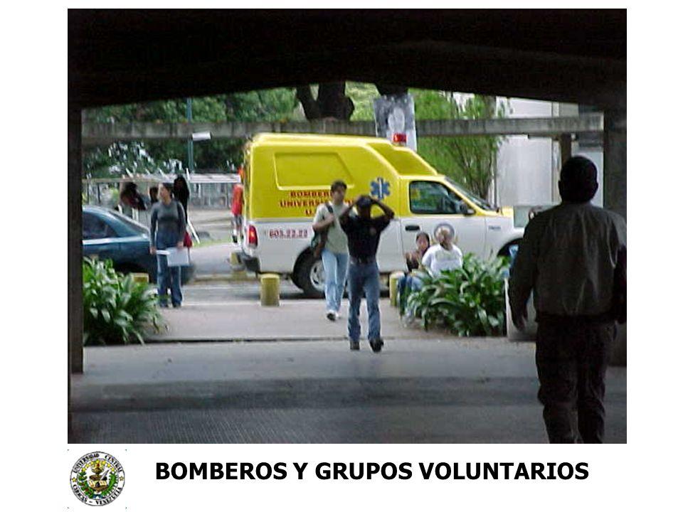 BOMBEROS Y GRUPOS VOLUNTARIOS