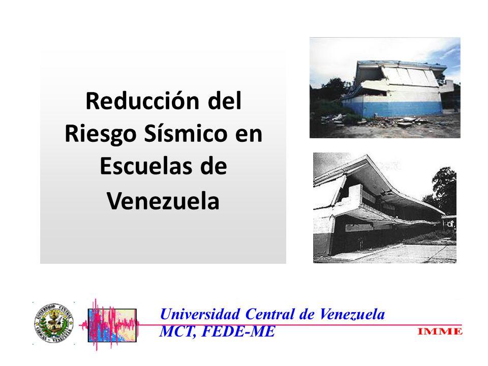 Reducción del Riesgo Sísmico en Escuelas de Venezuela