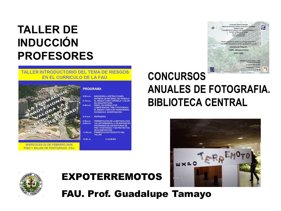 TALLER DE INDUCCIÓN PROFESORES CONCURSOS ANUALES DE FOTOGRAFIA.