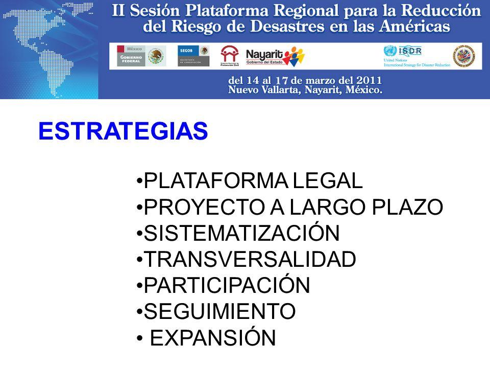 ESTRATEGIAS PLATAFORMA LEGAL PROYECTO A LARGO PLAZO SISTEMATIZACIÓN