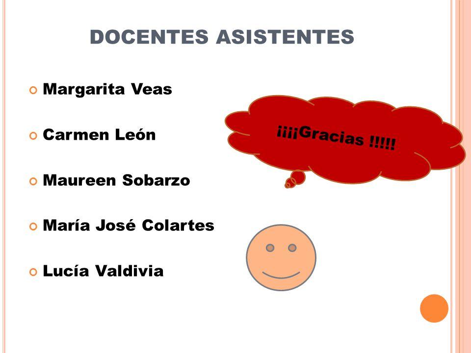 DOCENTES ASISTENTES Margarita Veas Carmen León ¡¡¡¡Gracias !!!!!