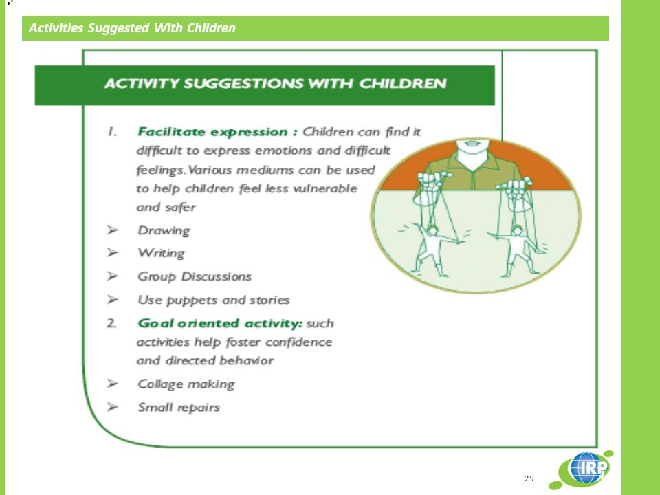 25 Activities Suggested With Children