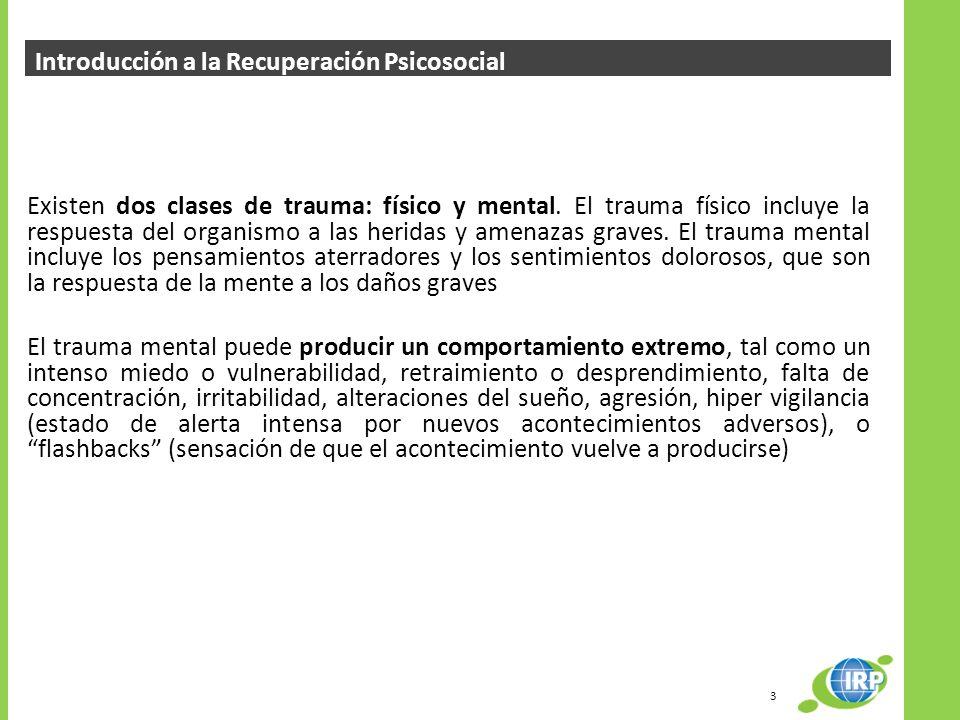 Introducción a la Recuperación Psicosocial