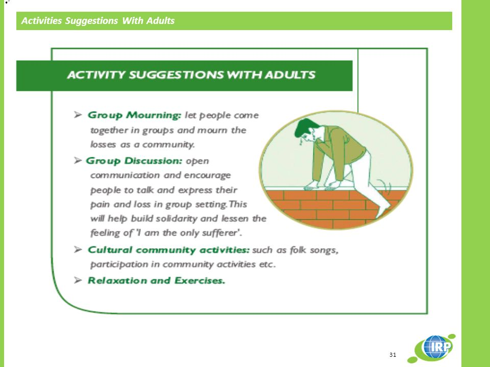 31 Activities Suggestions With Adults