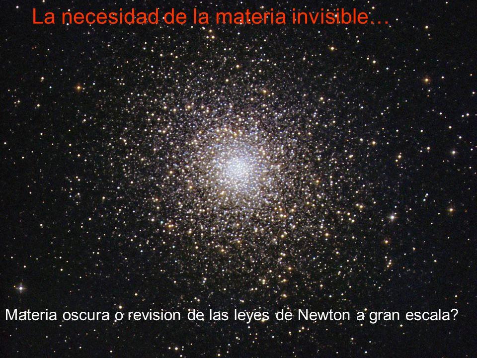 La necesidad de la materia invisible…