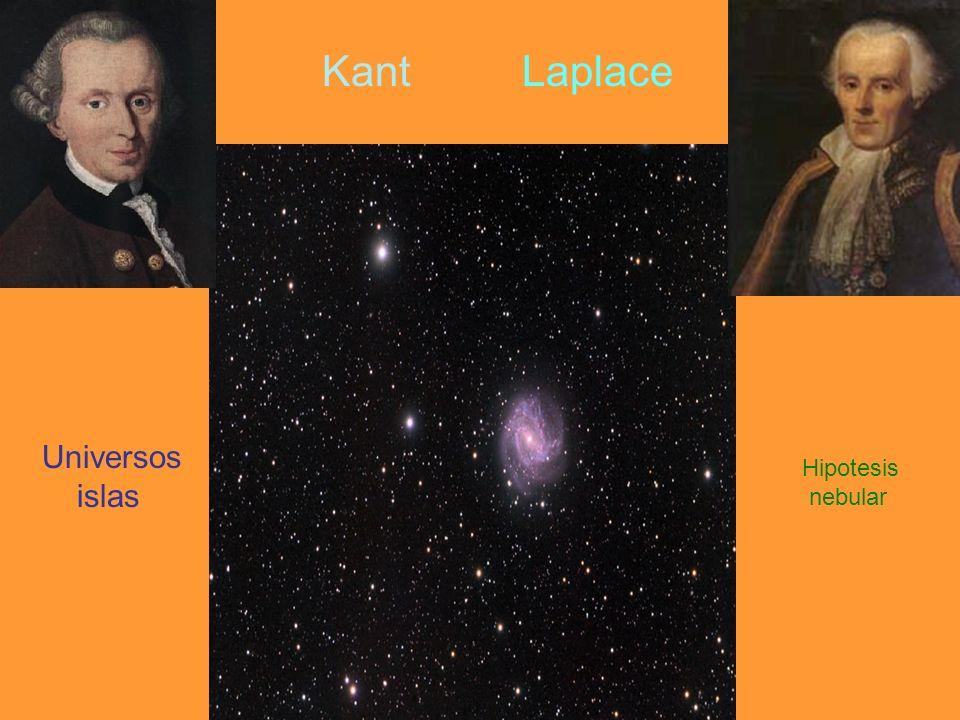 Kant Laplace Universos islas Hipotesis nebular