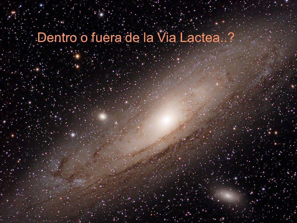 Dentro o fuera de la Via Lactea..