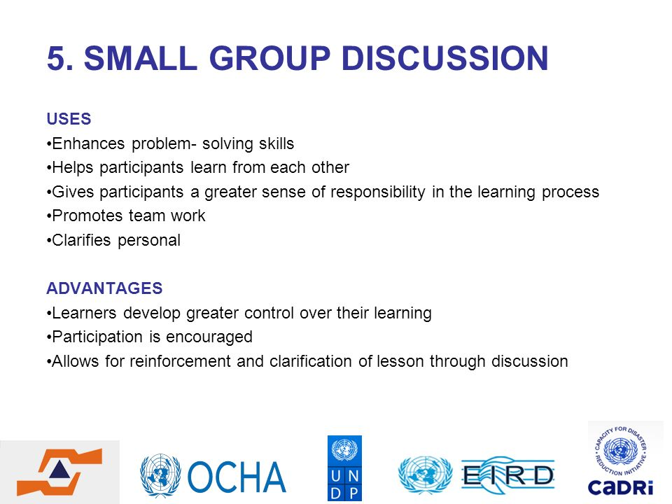 5. SMALL GROUP DISCUSSION