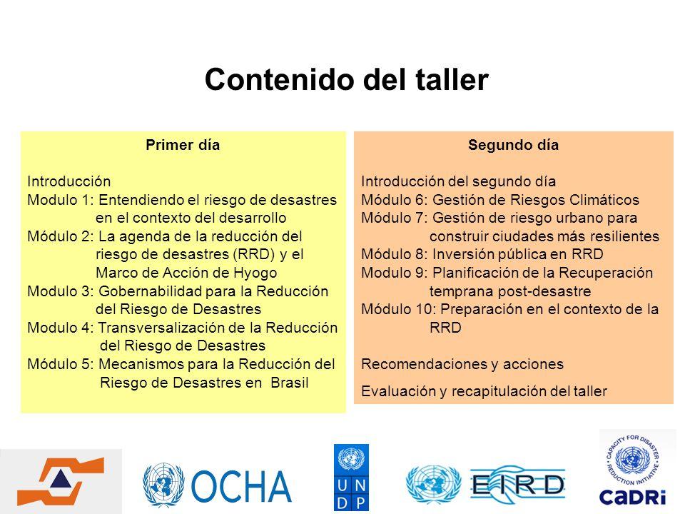 Modulo 4: Transversalización de la Reducción del Riesgo de Desastres