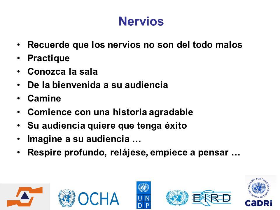 Nervios Recuerde que los nervios no son del todo malos Practique