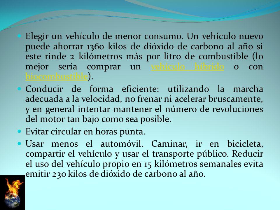 Elegir un vehículo de menor consumo