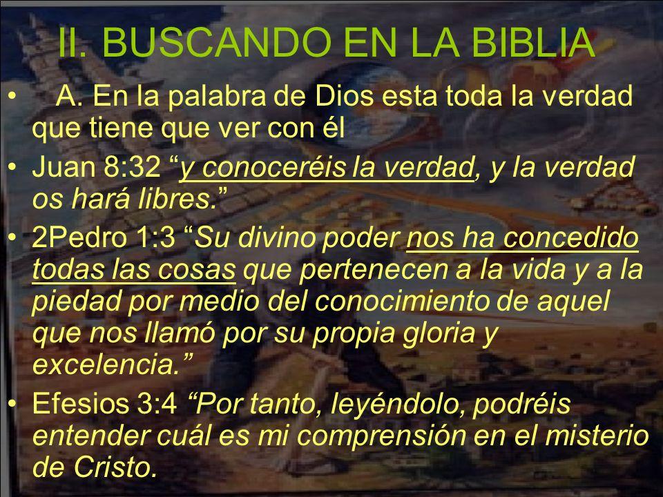 II. BUSCANDO EN LA BIBLIA