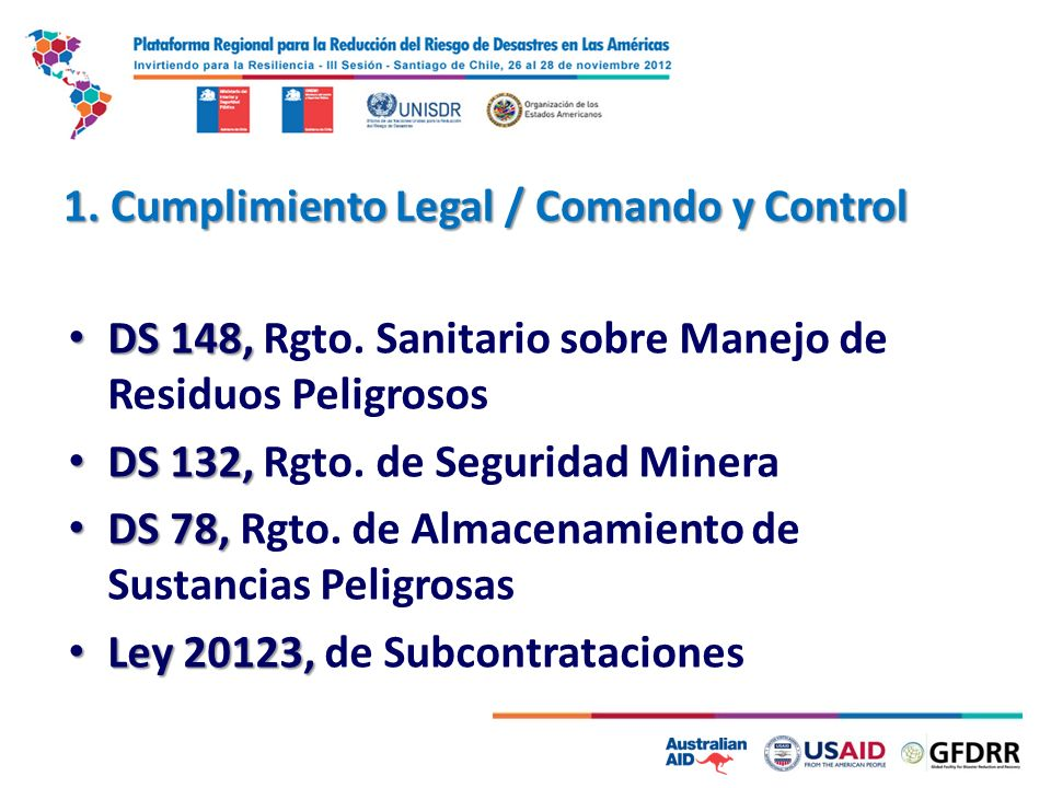 1. Cumplimiento Legal / Comando y Control