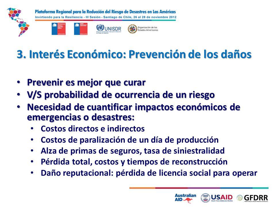 3. Interés Económico: Prevención de los daños