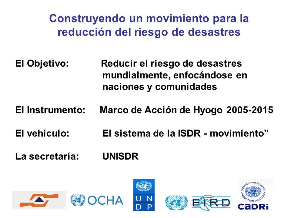 Construyendo un movimiento para la reducción del riesgo de desastres