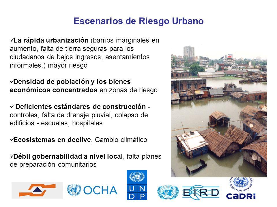 Escenarios de Riesgo Urbano
