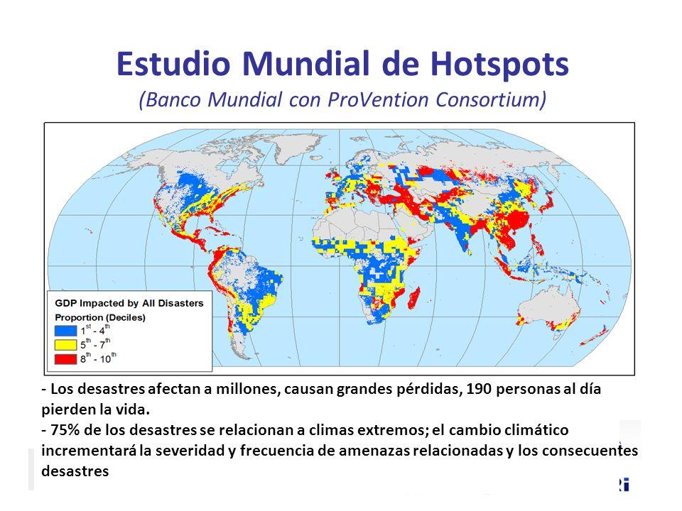 Estudio Mundial de Hotspots (Banco Mundial con ProVention Consortium)