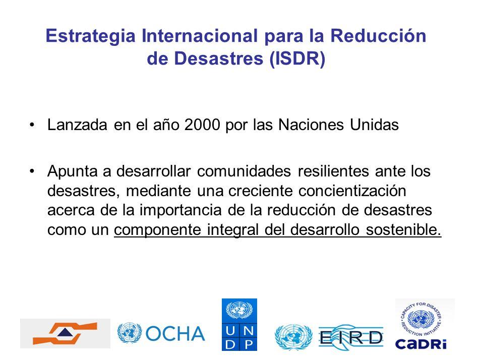 Estrategia Internacional para la Reducción de Desastres (ISDR)