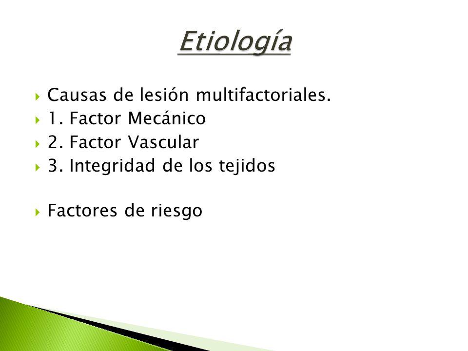 Etiología Causas de lesión multifactoriales. 1. Factor Mecánico