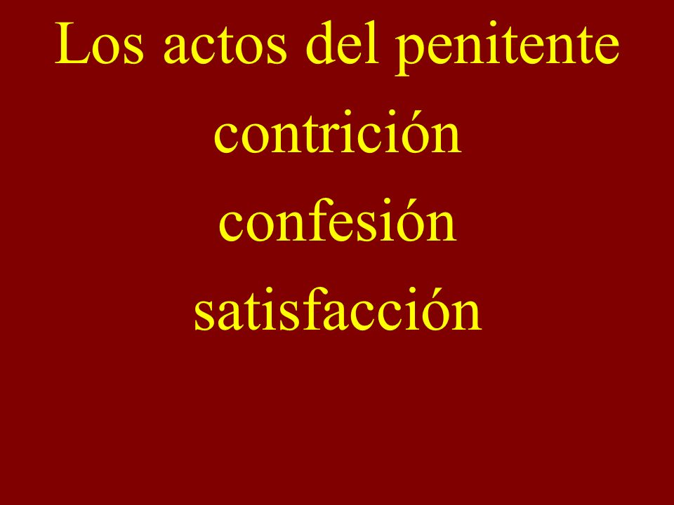 Los actos del penitente