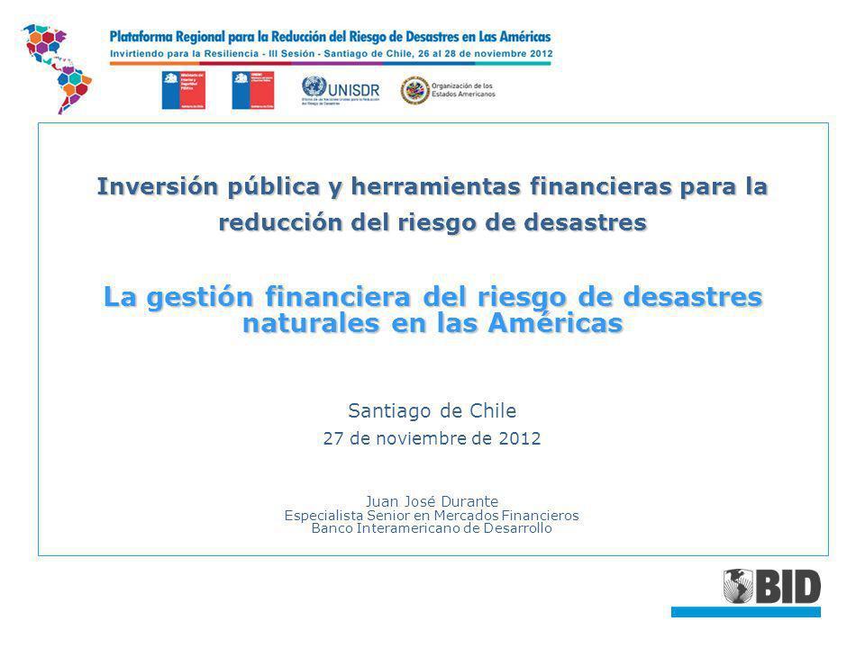 Inversión pública y herramientas financieras para la reducción del riesgo de desastres