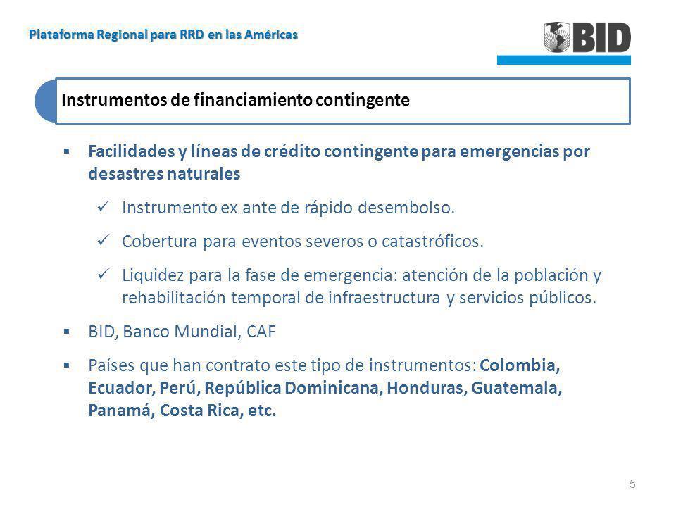 Instrumentos de financiamiento contingente