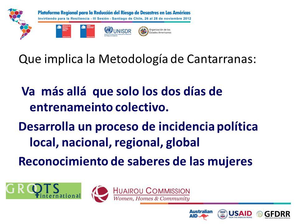 Que implica la Metodología de Cantarranas: