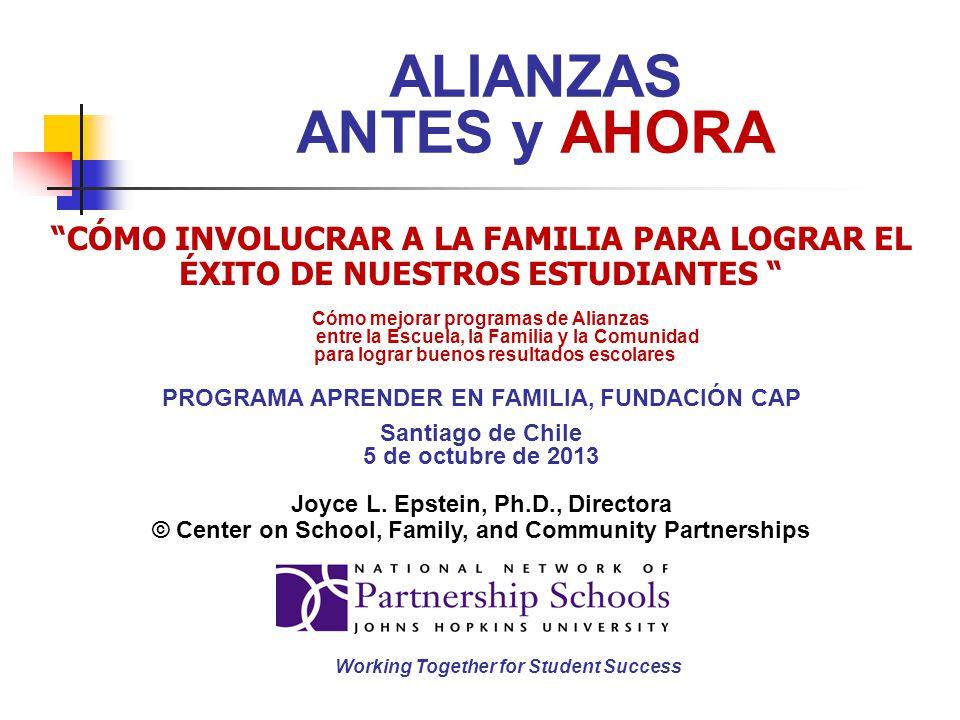 ALIANZAS ANTES y AHORA CÓMO INVOLUCRAR A LA FAMILIA PARA LOGRAR EL ÉXITO DE NUESTROS ESTUDIANTES