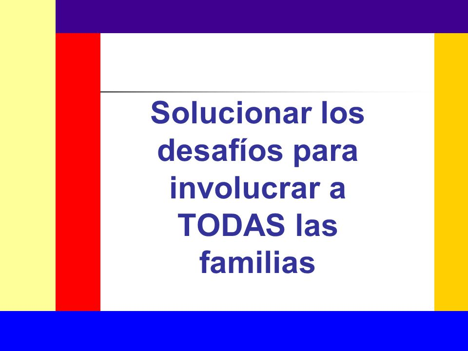 Solucionar los desafíos para involucrar a TODAS las familias